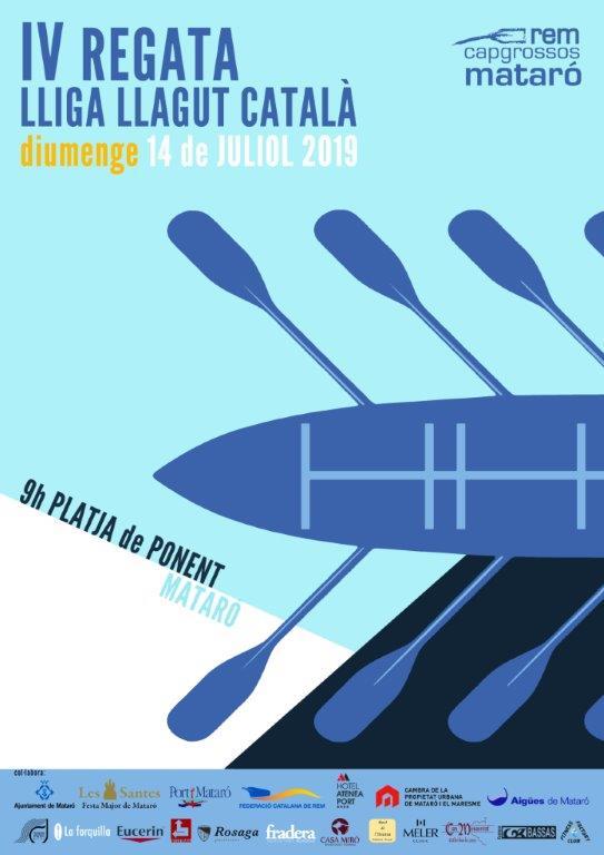 REM-4ª REGATA LIGA CATALANA DE LLAGUT costera 14-07-2019-CARTELL REGATA