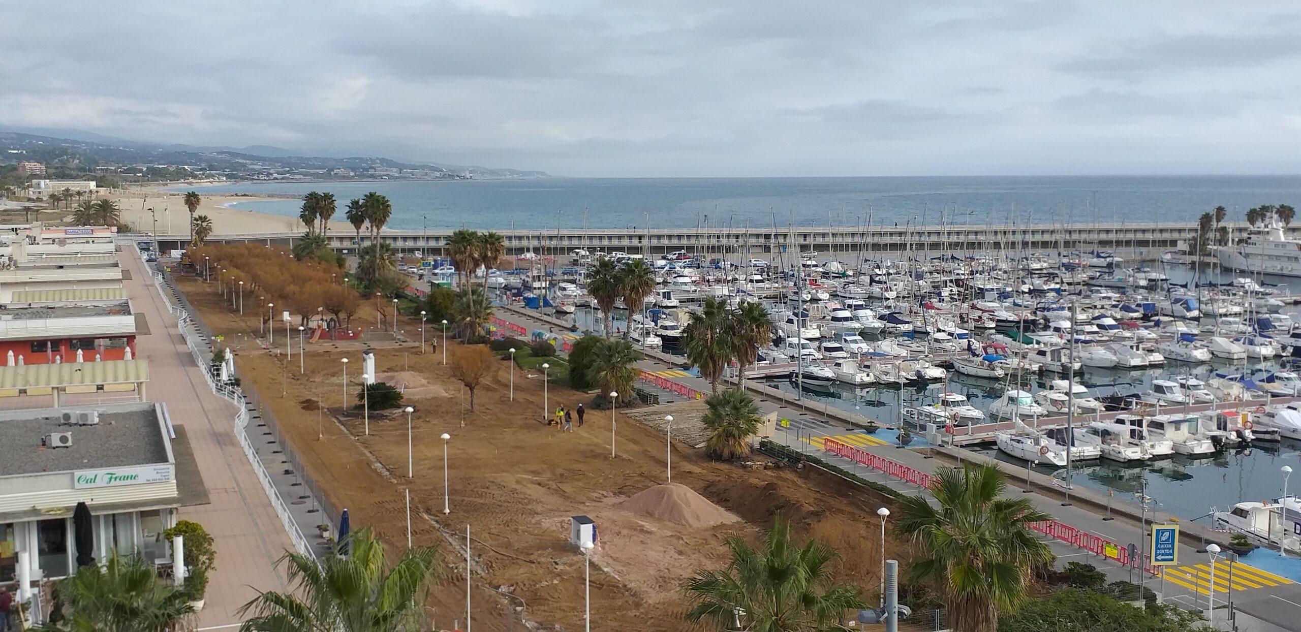 Vista aérea obres port