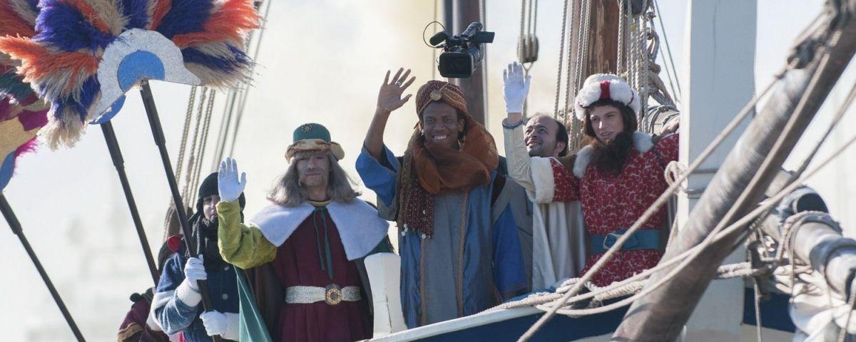 Arribada dels missatgers reials en el vaixell Sant Ramon